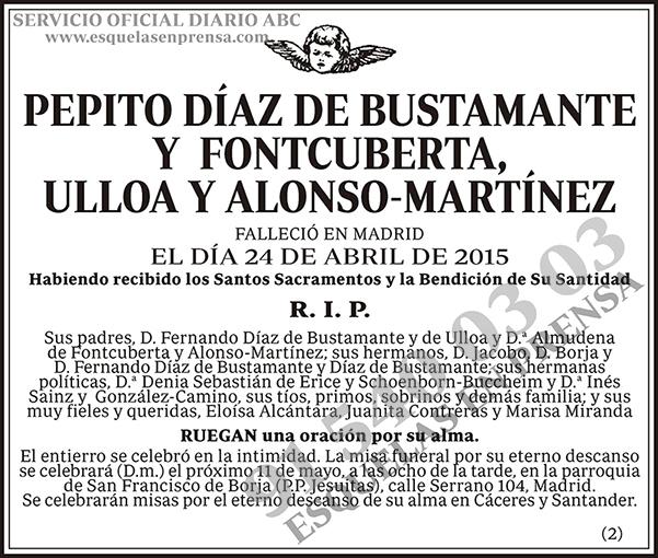 Pepito Díaz de Bustamante y Fontcuberta, Ulloa y Alonso-Martínez